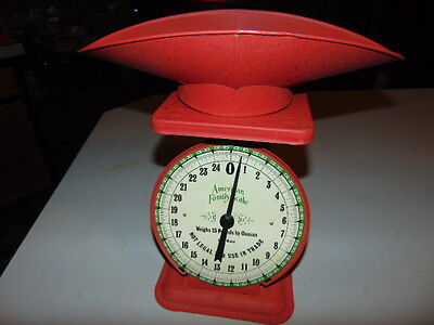 Vintage American Family 25 Pound Red Scale with Scoop