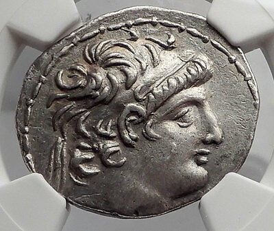 ANTIOCHOS VIII Grypos Seleukid Ancient Silver Greek Tetradrachm Coin NGC i62342
