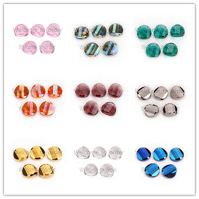 18mm New Faceted Glass Crystal Twist Tile Beads Loose Spacer Bead 27 Colors