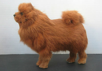 Red Chow Chow Glass Eyes Real Fur Covered Dog