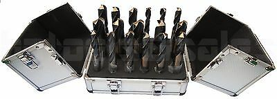 "17pc SIlver & Deming Bit Set Tool Steel Deming 1/2"" Shank Large Size Drill Bit"