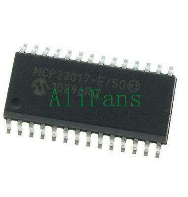 MCP23017-E/SO SOP-28 MCP23017 16-Bit I/O Expander with I2C Interface IC