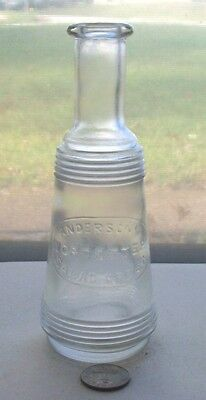 Fancy Bottle Embossed, Anderson's Worchester Salad Cream - 1905 Period