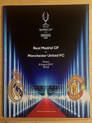 2017 Super Cup Final Programme *(Real Madrid V Manchester United)* (08/08/2017)