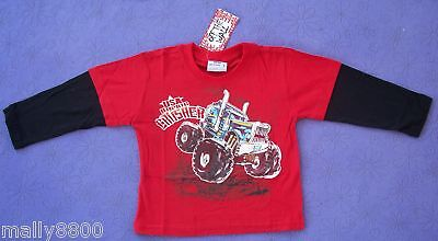 Boys - Tshirt Top  - Long Sleeve - Monster Truck - Size 0