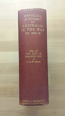 OFFICIAL HISTORY OF AUSTRALIA IN THE WAR OF 1914 - 18  - 3rd Edition 1935