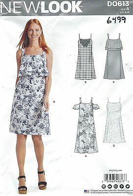 7c49e4ed827 NEW LOOK 6499 613 PATTERN MISSES  Spaghetti Strap Dress Cold ...