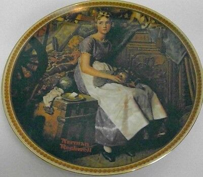 Norman Rockwell collector plate Rediscovered Women 'Dreams in the Attic' #1741AM