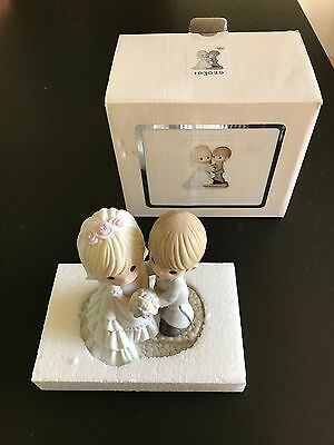 Precious Moments Two Lives One Love Porcelain Figurine Wedding 103020