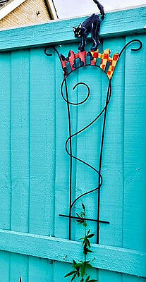 Colourful Metal Tomcat Climbing Trellis By Gall & Zick