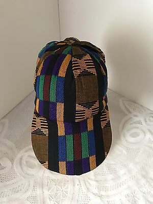 African kente multi color baseball style hat/cap