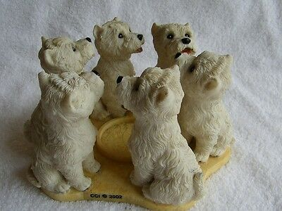 WESTIE Circle of True Friends #P693 Candle Holder West Highland Terrier Dogs