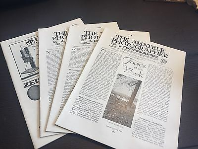 The Amateur Photographer Magazine 5 12 19 26 October 1938 - Issues/Journals