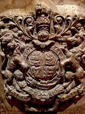 RARE 19thcentury CASTING PANEL, Coat Of Arms. IRON OR PLASTER