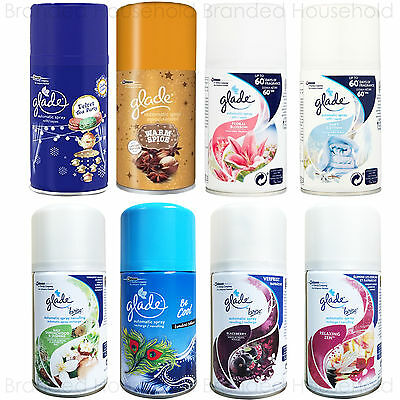 3 X Glade Automatic Spray Refills  Air Freshener 269Ml Choose Scent Fragrance