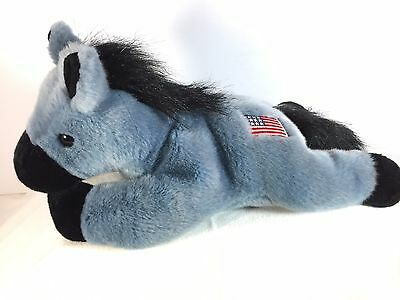 TY Beanie Buddy - LEFTY the Donkey -  USA American Flag - Retired