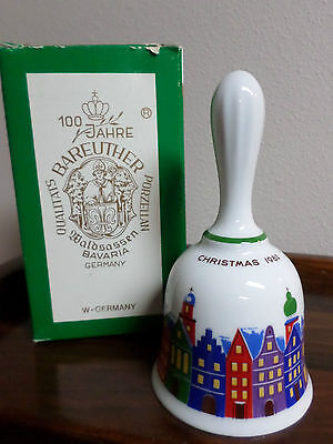 "BAREUTHER CHRISTMAS BELL 1982-Limited Edition-Bavaria Germany-6"" Tall-New In Box"