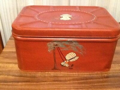 Vintage Empeco Bread Box Hinged Lid. Hand Painted. Pretty 🍞