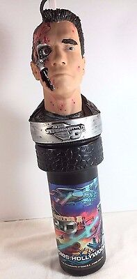 TERMINATOR 2 Promo Cup w/ Straw by Universal Studios Hollywood - T2 3D 1991