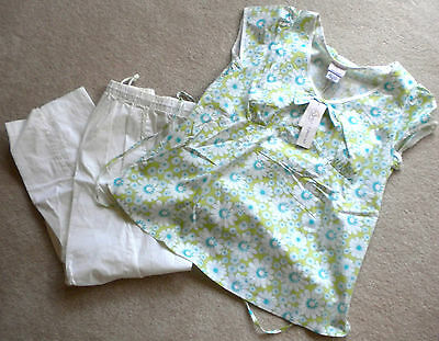 NWT Oh Baby by Motherhood Maternity Pants & Top Outfit Set M