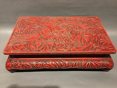 Japanese Antique Tuishu Urushi ( Red Lacquer Ware )