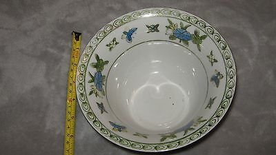 Vintage Andrea by Sadek Porcelain Decorative Bowl, White & Blue Floral Porcelain
