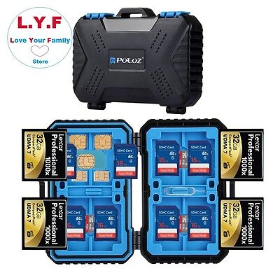 28 Slots SD Card Holder Case Waterproof Memory Micro Nano Storage Protector Box