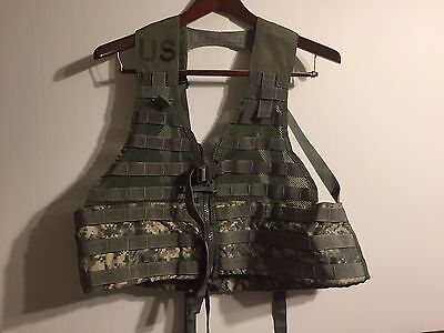 US Army MOLLE II FLC Fighting Load Carrier Vest ACU Digital Tactical  Paintball