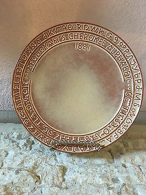 Nice!! Vintage Sequoia Indian Alphabet Frankoma 7FS 1960s Wall Plate