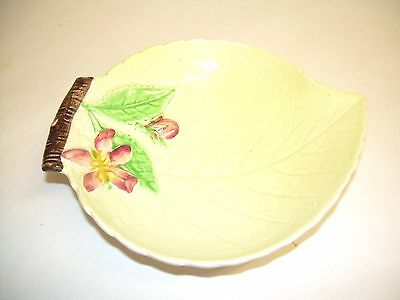carlton ware leaf shape yellow apple blossom dish vintage 1950's perfect
