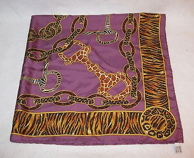 Vintage Gucci Authentic 100% Silk Scarf Wrap Made in Italy 67 x 34""