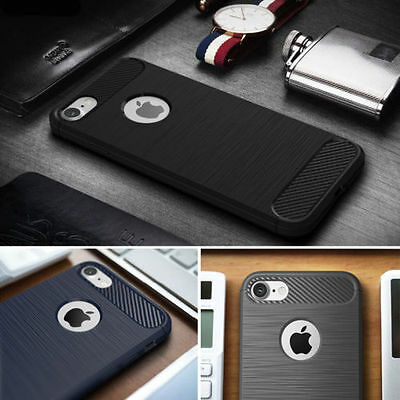 Slim Luxury Ultra-Thin Soft Case Cover + Tempered Glass for iPhone 6 6S 7 7 Plus
