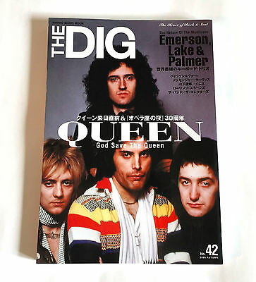 QUEEN THE DIG JAPAN MAGAZINE 2005 Freddie Mercury Emerson Lake & Palmer Yes QMS
