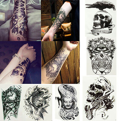 Multi kind Tattoo Tatouage Temporaire Autocollant Bras Corps Art Sticker Etanche