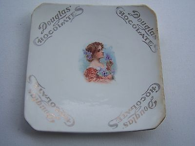 Antique Limoge China Advertising Douglas Chocolates Candy Dish Plate