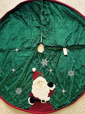 48 In Christmas Santa Tree Skirt Knitted Shirt & Hat Red Green