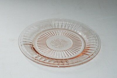 Hocking MAYFAIR Open Rose Pink Sherbet Bread Plate Plates 6.5 Inch