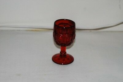 L G LG Wright Moon & Star Ruby Red Wine Goblet Goblets