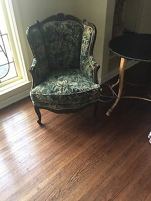 Antique French Wood Gilt Armchair Chair Scalamandre