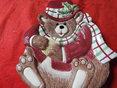 Fitz and Floyd Essentials Snack Therapy Bear Cookie Plate
