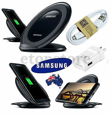 GENUINE Samsung Fast charge Wireless QI Charger Stand S7 S6 Edge Plus Note 7/5