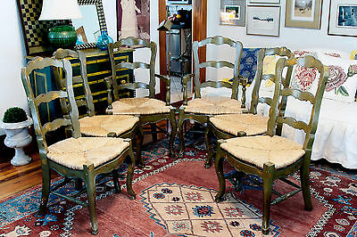 Six Reproduction French Dining Chairs