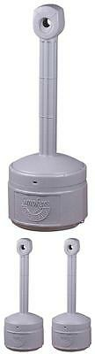 Smokers Sand-Free Receptacle Outpost Patio Cigarette Butt Ashtray Stand - GRAY