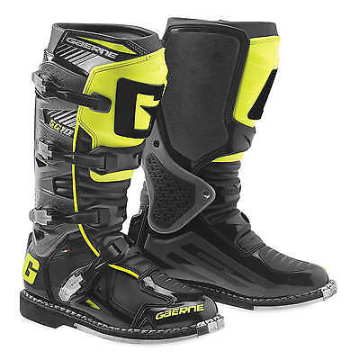 Gaerne SG-10 Leather Motocross MX Riding Boots - 2016/17 [Black/Yellow, Size 6]
