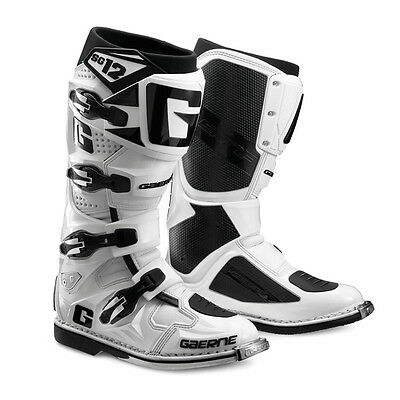 Gaerne SG-12 Leather Motocross MX Riding Boots [White, Size 7]