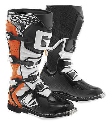 Gaerne G-React Leather Motocross MX Riding Boots - 2016/17 [Orange, Size 13]