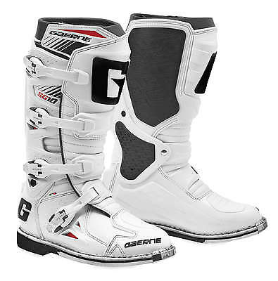 Gaerne SG-10 Leather Motocross MX Riding Boots - 2016/17 [White, Size 9]