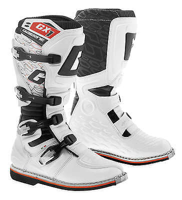Gaerne GX-1 Leather Motocross MX Riding Boots - 2016/17 [White, Size 14]