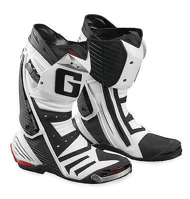 Gaerne GP1 Leather Motorcycle Street/Race Riding Boots [White, Size 12]