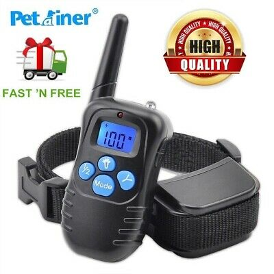 Petrainer Dog Training Shock Collar+LCD Electric Remote Waterproof Rechargeable